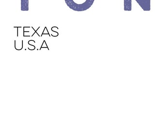 Digital Print Version of Houston Skyline Print.  Houston Texas TX City Poster. 11x17 art starting at only 14.99
