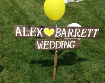 Rustic Wedding Signage, Rustic Wedding Sign, Woodland Wedding Decor, Wedding Signage, Rustic Wedding Decor, Custom Signage, Arrow Sign