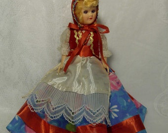 Vintage 1950s Sleepy Eyes International Doll - Denmark - 8 inches - Great Condition