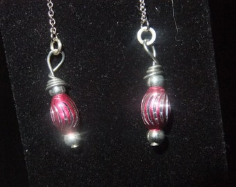 Pink Thread Earrings