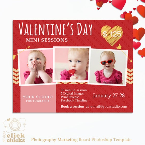 Valentine's Day Mini Session Template Photography