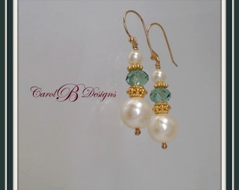 Women's Gifts, Cream Pearl Earrings