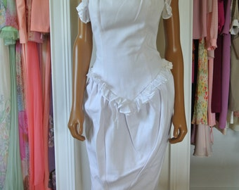 1980s Bombshell Dress Barboglio by Cristina Jan Shift Wiggle Strapless Dance Party Wedding/4