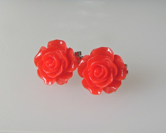 earrings plastic post earrings or clip by