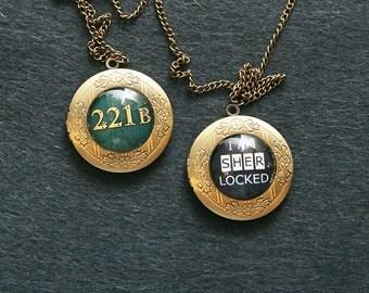 Sherlock Holmes inspired lockets opening round 221B