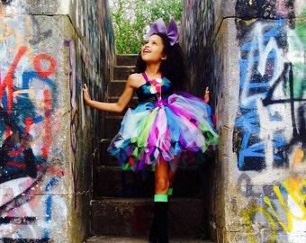 Rockstar tutu/ rockstar costume/ rockstar dress/ rockstar tutu dress/ rockstar party/ rocker girl