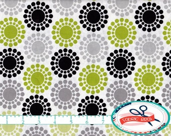 GLAMOUR GIRL Fabric by the Yard, Fat Quarter Retro Fabric Lime & Gray Fabric Apparel Fabric 100% Cotton Fabric Quilting Fabric Yardage a1-42