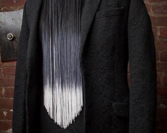 Ombre Fringe Bow Tie