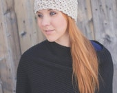 Seed Stitch Headband - Light Gray