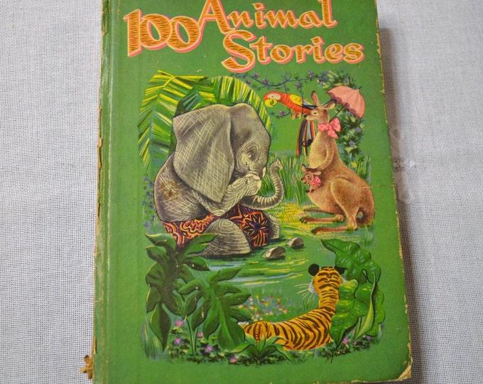 100 Animal Stories Book 1947 Virginia Cunningham Illustrated Vintage Book Graphics PanchosPorch
