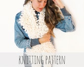 PATTERN for Faux Shearling Fake Fur Collar Loop Stitch Scarf // Penny Lane Collar PATTERN
