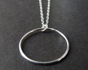 Eternity Necklace, Circle of life Necklace, Gift for Wife, Mother gift, Sterling Silver