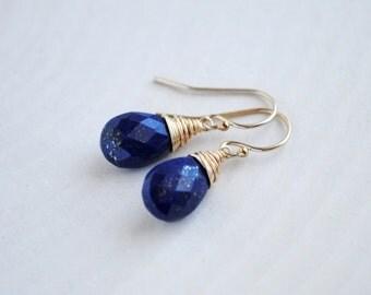 Lapis Lazuli Earrings - Lapis Drop Earrings - Lapis Lazuli Drop Earrings - Lapis Lazuli Jewelry