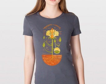 T-Shirt: Flower Anatomy