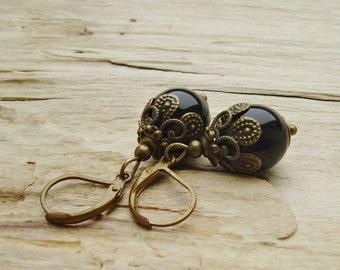 Simply Black Vintage Boucles d'oreilles de style bronze
