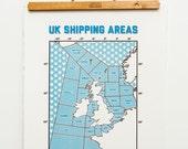 UK Shipping Areas // Screenprint // Shipping forecast // Radio 4