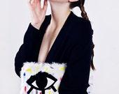 Super Soft Black Sweater Maxi Cardigan Coat AW14
