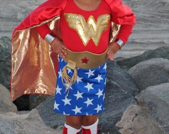 CUSTOM PREMIUM Toddler-Child-Teen WONDERWOMAN Costume