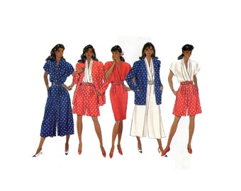 Butterick 5262 Misses Jacket and Dress with Straight or Split Skirt Sizes 12-16 Uncut