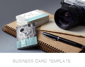 Photography Business Card Template - Simple - Easy to Use - Market Seniors - Families - Large Photo Back - Easy to read - Modern - Elegant