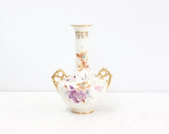 English Floral Bottle Vase