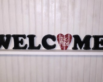 "Interchangeable, Seasonal ""Welcome"" Sign-- starter set"