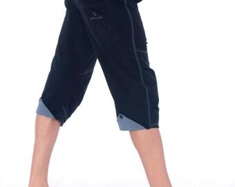 ORGANIC Cotton Yoga Shorts, Fitness Shorts, Mens Sport Pants, Mens Black Shorts, Urban Pants, Gym Shorts, Pants for Men, Fitness Gift