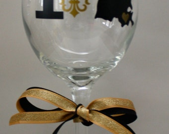 I Love New Orleans Personalized Wine Glasses - Personalized