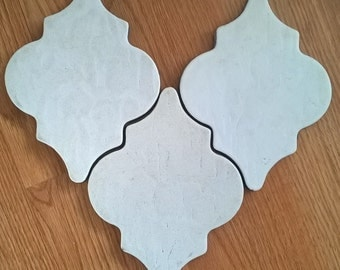 Vintage Large Arabesque, Moroccan Ceramic Tile