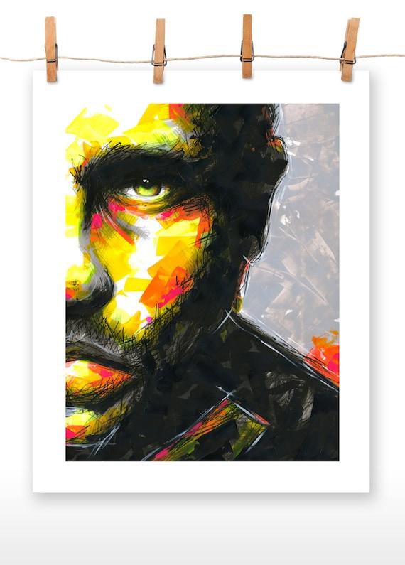 HALF 16x20 Poster Print of an Original Acrylic Painting entitled 'HALF'