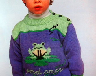 Trendy Togs For Tiny Tots By Patons Knitting Pattern Leaflet 1989