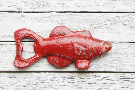 Fish bottle opener barware best man gifts bottle by for Cool fishing gifts