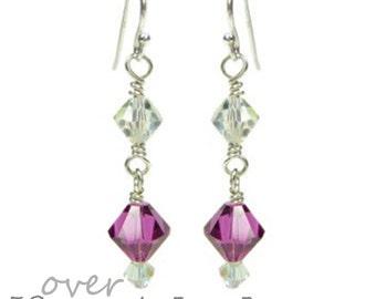 ANY COLOUR Crystal Wedding Earrings, Crystal Bridesmaid Earrings, Bridal Earrings, Small Drop Crystal Earrings, Swarovski Crystal Earrings