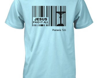 Aprojes Jesus Paid Price Barcode God Christian T-Shirt for Men