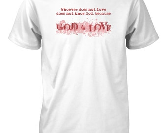 AproJes Men's God is Love Heart Valentine's Day T-Shirt