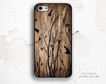 Birds in Trees iPhone Case - iPhone 5 Case, iPhone 4 Case, iPhone 4s Case, Rustic Wood iPhone 5s Case Birds :0373