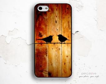 iPhone 6 Case Birds iPhone 6s Case - iPhone 6 Plus Case Wood Print iPhone 5s Case, Galaxy S6 Case Birds iPhone 6 Plus Case Nature :0218