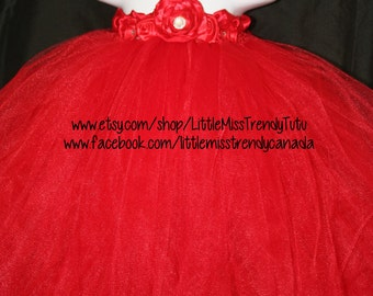 Red Tutu Dress, Tutu Dress, Flower Girl Tutu Dress, Flower Girl, Red Tutu Dress, Christmas Tutu Dress