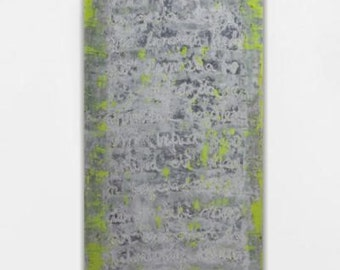 Large abstract painting yellow white grey gray large canvas art wall art huge painting abstract art neon modern contemporary minimalist