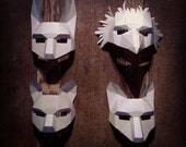 WOODLAND ANIMAL mask set