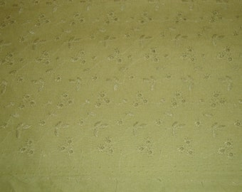 Cotton Eyelet Fabric Spring Green 45 Inches Wide by 1 Yard Long