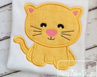 Kitten 56 Applique embroidery Design - cat Appliqué Design - kitten Applique Design