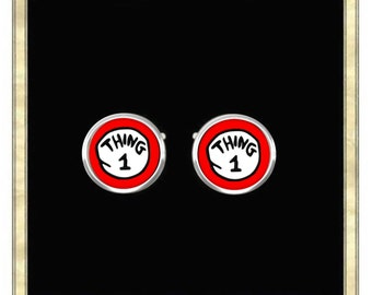 Thing 1 - Silver Plated Cufflinks