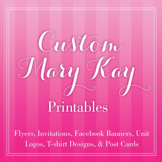 items similar to custom mary kay flyer or print outs on etsy