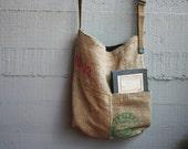 Tote bag / Canvas bag / Bag made with juta fabric /upcycled/vintage/ecological/cafes do brasil