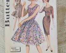 Butterick Pattern 9973 // Vintage scoop neck dress pattern // vintage dress pattern