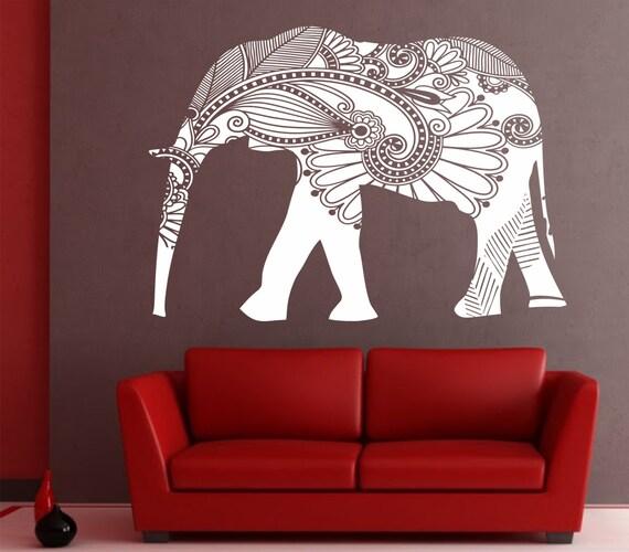 Elephant Wall Decal Stickers Elephant Yoga Wall Decals Indie - Elephant wall decals