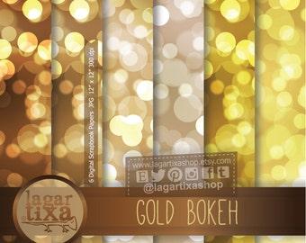 Bokeh Texture, Metallic, Gold, Yellow, Beige, Brown, Digital Paper, Patterns, New Year's Eve, Elegant Party, Blog Background