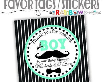 FVTAGS-787: DIY - Little Man Stache 3  Favor Tags Or Stickers