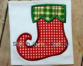 Christmas Stocking Machine Applique Design